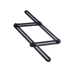 Multi-fungsi Folding Woodworking Ruler Multi-angle Alat Template untuk Handyman Pembangun Craftsman-Intl