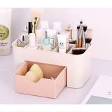 Beli Multi Function Sub Format Desktop Cosmetics Tableware Organize Debris Storage Box Container Holder With Drawer Light Pink Intl Sunsky Murah