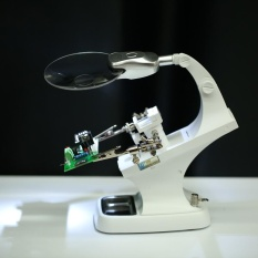 Beli Multi Fungsional 3X 4 5X Welding Desktop Magnifier Dengan 2 Led Alligator Clip Membantu Solder Tangan Holder Repair Mgnifying Alat Internasional Not Specified