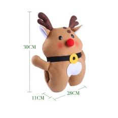 Multi-Functional Santa Claus Elk Warm Hands Pillow Cushions Plush Toys Gift BW