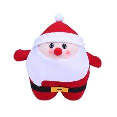 Multi-Functional Santa Claus Elk Warm Hands Pillow Cushions Plush Toys Gift Red