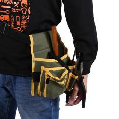 Multi Pocket Canvas Pouch Bag Mekanik Wadah Perangkat Keras Belt Electrician Tool Pack-Intl