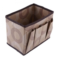 Jual Multifungsi Non Woven Kotak Penyimpanan Make Up Container Meja Case Kosmetik Organizer Coffee Drinker Ori