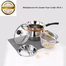 Jual Multifunction Pot Steamer Fryer Cooker All In 1 Stainless Original