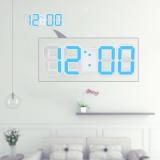 Iklan Multifungsi Led Besar Jam Dinding Digital 12 H 24 H Tampilan Waktu Dengan Alarm Dan Tunda Fungsi Pencahayaan Yang Dapat Disesuaikan