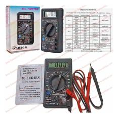 Multitester Saku Palm Size 8 Functions Digital Amper Volt Ohm Multi Meter DT 830 B
