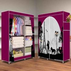 Spesifikasi Murah Meriah Hot Love 2018 Multifunction Wardrobe Lemari Pakaian Rak Baju Paling Bagus