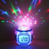 Toko Musik Starry Sky Projection Jam Alarm Kalender Thermometer Lengkap Di Tiongkok