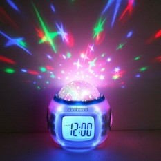 Toko Musik Starry Sky Projection Jam Alarm Kalender Thermometer Online