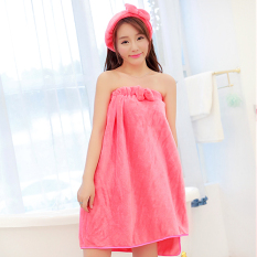 Handuk Mandi Korea Fashion Style Flanel Baju Handuk Musim Gugur Musim Dingin Wanita