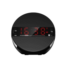 MX21 Meja Bluetooth Speaker Penopang FM Radio Line Di TF Kartu Jam Alarm (Black)