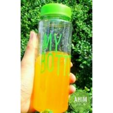 My Bottle 545ml CLEAR/Transparan Botol Minum ECO Friendly Infused Water Tritan BPA Free - GREEN