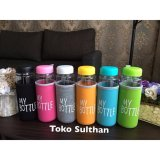 Jual My Bottle Clear Botol Minum 6 Warna Warni Plus Pouch 6Pcs Termurah
