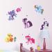 Toko Saya Sedikit Poni 3D Kartun Stiker Dinding Untuk Dekorasi Kamar Anak 59 Cm X 104 Cm Oem Di Tiongkok