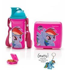 Kualitas My Little Pony Lunch Set Gratis Bekal Sekolah Tupperware