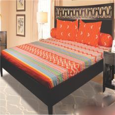 My Love Sprei Queen Tinggi 30 cm Motif Orange Aztec 160x200 cm