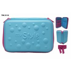 Beli My Style Tm 2112 Blue Bubble Hardtop Pencil Caset My Style