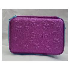 Spesifikasi My Style Tm 2169 Purple Glitter Flower Hardtop Pencil Caset Merk My Style