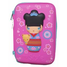 Harga My Style Tm 2228 Japanese Kokeshi Doll Hardtop Pencil Case Satu Set