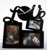 Harga Nail Your Art Jam Dinding Unik Artistic Photo Frame Love Black Artistic Unique Wall Clock Terbaru