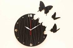 Harga Nail Your Art Jam Dinding Unik Artistik Butterfly Black Artistic Unique Wall Clock Satu Set