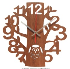 Beli Nail Your Art Jam Dinding Unik Artistik Owl Artistic Unique Wall Clock Pake Kartu Kredit