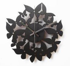 Spesifikasi Nail Your Art Jam Dinding Unik Artistik Pappilon Lengkap Dengan Harga