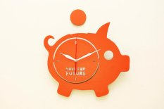 Diskon Nail Your Art Jam Dinding Unik Artistik Piggy Bank Artistic Unique Wall Clock