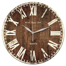 Spesifikasi Nail Your Art Jam Dinding Unik Artistik Rosewood Artistic Unique Wall Clock Beserta Harganya