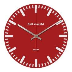 Beli Nail Your Art Jam Dinding Unik Artistik Simply Red Artistic Unique Wall Clock Cicilan