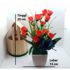 Naindo - Bunga Plastik Hiasan Ruang tamu dan Kantor f5c40c18cc