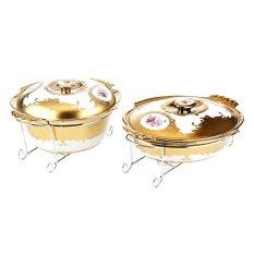 Spesifikasi Nakami Lady Rose Paket Penghangat Makanan Bundar 13 Dan Oval 15 Keramik 2 Set Murah Berkualitas