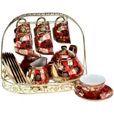 Jual Nakami Perangkat Minum Teh Keramik Merah Nakami Branded