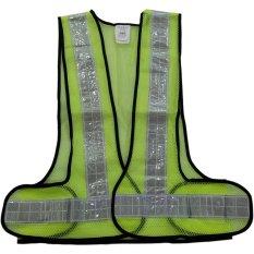 Nankai Safety Vest - Baju Rompi Proyek Pengaman Jaring V Hijau Perkakas Tool