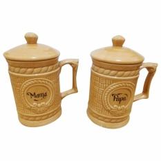 Jual Napoleon Mug Keramik Mama Papa Diana Coklat Napoleon Murah