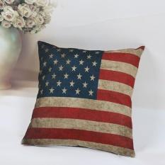 National Flag Pillow Case Sofa Waist Throw Cushion Cover Home Decor - intl