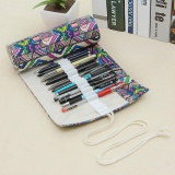 Spesifikasi National Handmade Pencil Case 72 Holes Roll Pencil Box Sch**l Gift Bags Series B Multicolor Intl Yang Bagus