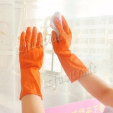 Natural Rubber Latex Waterproof Kitchen Long Gloves Dish Washingcleaning M Size