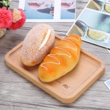 Review Pada Natural Wooden Plate Food Snack Tea Dessert Serving Tray Photograph Decoration Elephant Intl