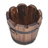 Spesifikasi Natural Wooden Round Garden Planter Kotak Jendela Pot Rumah Office Taman Dekorasi Bunga Edge Intl Terbaik