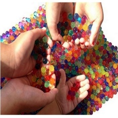 NEGA Water Beads, 3 Oz Pack (Hampir 7,000!!) Crystal Water Beadgel [Rainbow Mix] untuk Pengalaman Indrawi Taktil, Orbeezrefill, Vacuum Vacuum Center Center, Tanah, Tanaman Hiasan-Internasional