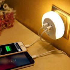 Jual Beli Online Neo Lampu Tidur Smart Led Dual Usb Charger Untuk Iphone Android Unik