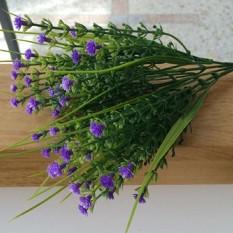 Baru 1 Ranting Kecil Tanaman Buatan Rumput Bunga Palsu Plastik Sutra Eucalyptus untuk Meja Kantor Pernikahan Hotel Dekorasi Ungu -Intl