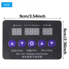 New 12V Digital Temperature Controller 10A Thermostat Control Switch With Probe - intl