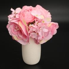 Beli Baru 1X Buket Buatan Rose Bunga Putih Pink Sutra Wedding Bridal Party Diy Pink Intl Not Specified Online