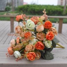 Beli Baru 42 Kepala Plastik Buatan Rose Wedding Bouquet Dekorasi Rumah Silk Flower 2 Pcs Intl Online