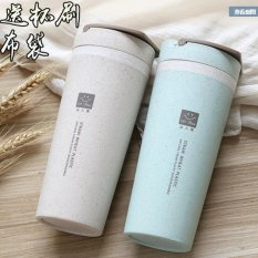 Review Terbaik Baru 450 Ml Botol Air Fashion Sport Double Plastic Frosted Mug Mudah Cup Botol Air Panas Dijual Biru Intl