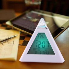 Spesifikasi New 7Warna Pyramid Digital Termometer Lcd Jam Alarm Dan Harganya