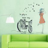 Review Sepeda Baru Dekorasi Kamar Cewek Rumah Stiker Dinding Can Dilepas Stiker Dekorasi Oem
