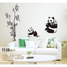 New Black Giant 100*90CM Panda Bamboo Wall Stickers Living Room TV Wall Sofa Removable Home Sticker Wall Sticker Art AY9051 - intl